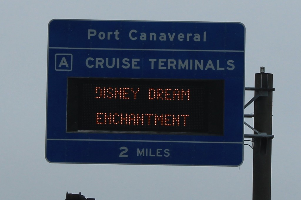 Disney Cruise - Port Canaveral Sign